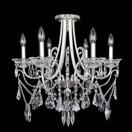 Allegri 25042 Brunetti 2-Tone Silver Flush Mount Light Fixture