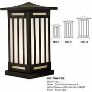 Arroyo Craftsman HIC Himeji Asian Exterior Column Mount