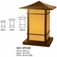 Arroyo Craftsman KAC Katsura Asian Outdoor Column Mount