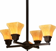 Arroyo Craftsman RCH-4U Ruskin Mini Chandelier Lighting