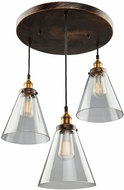 Artcraft AC10167 Greenwich Copper Brown Multi Drop Ceiling Light Fixture