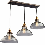 Artcraft AC10170 Greenwich Copper Brown Multi Pendant Lighting