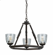 Artcraft AC10223OB Kent Modern Oil Rubbed Bronze Mini Chandelier Light