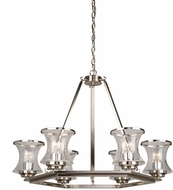 Artcraft AC10236BN Dorsett Contemporary Brushed Nickel Chandelier Lamp