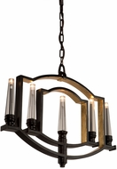 Artcraft AC10255OB Preceptions Contemporary Dark Espresso Halogen Mini Chandelier Light