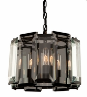 Artcraft AC10263 Palisades Contemporary Matte Black Mini Chandelier Light