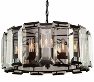 Artcraft AC10269 Palisades Modern Matte Black Chandelier Lighting