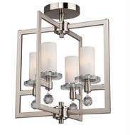 Artcraft AC10273 Melbourne Brushed Nickel Flush Mount Lighting