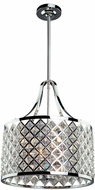 Artcraft AC10423 Lattice Chrome Drum Drop Ceiling Light Fixture