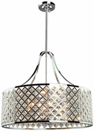 Artcraft AC10426 Lattice Chrome Drum Pendant Lighting