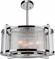 Artcraft AC10803CH Crackled Ice Chrome Drum Pendant Lighting Fixture