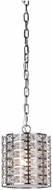 Artcraft AC191 Coventry Contemporary Chrome Mini Drum Hanging Pendant Lighting