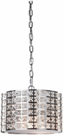 Artcraft AC192 Coventry Modern Chrome Drum Hanging Pendant Light