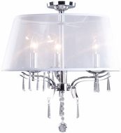 Artcraft AC4345CH Roxborough Chrome Flush Ceiling Light Fixture
