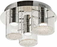 Artcraft AC7010 Belmont Chrome LED Flush Lighting