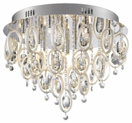Artcraft AC903CH Starlight Chrome Finish 16  Wide Halogen Ceiling Light