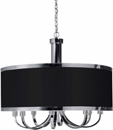 Artcraft SC438BK Madison Modern Black Drum Hanging Lamp