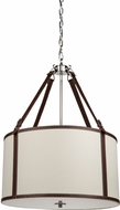 Artcraft SC875WH Bay Street White Drum Pendant Lighting Fixture