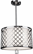 Artcraft SC963 Trellis Contemporary Chrome Drum Hanging Pendant Lighting