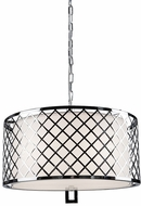 Artcraft SC964 Trellis Modern Chrome Drum Hanging Pendant Light