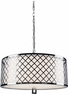 Artcraft SC965 Trellis Contemporary Chrome Drum Pendant Hanging Light