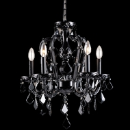 Avenue Lighting HF1037-BLK Onyx Ln. Crystal Black Finish 18  Wide Mini Chandelier Light