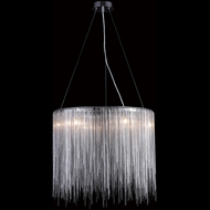 Avenue Lighting HF1202-CH Fountain Ave. Modern Chrome Finish 20  Tall Halogen Pendant Lighting