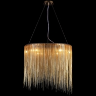 Avenue Lighting HF1202-G Fountain Ave. Contemporary Gold Finish 24  Wide Halogen Pendant Light