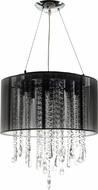 Avenue Lighting HF1501-BLK Beverly Dr. Black Silk String Finish 16  Wide Halogen Drum Hanging Pendant Light