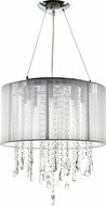 Avenue Lighting HF1501-WHT Beverly Dr. White Silk String Finish 17.5  Tall Halogen Drum Drop Lighting