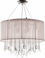 Avenue Lighting HF1502-TP Beverly Dr. Taupe Silk String Finish 20  Wide Halogen Drum Ceiling Pendant Light