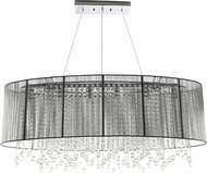 Avenue Lighting HF1503-SLV Beverly Dr. Silver Silk String Finish 17  Tall Kitchen Island Light Fixture