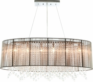 Avenue Lighting HF1503-TP Beverly Dr. Taupe Silk String Finish 39.5  Wide Island Lighting
