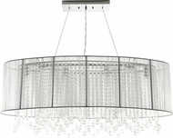 Avenue Lighting HF1503-WHT Beverly Dr. White Silk String Finish 17  Tall Kitchen Island Lighting