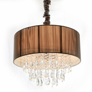 Avenue Lighting HF1506-TP Vineland Ave. Taupe Silk String Finish 19  Wide Drum Hanging Light