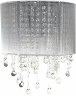 Avenue Lighting HF1511-SLV Beverly Dr. Silver Silk String Finish 12  Tall Wall Lighting Sconce