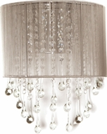 Avenue Lighting HF1511-TP Beverly Dr. Taupe Silk String Finish 8  Wide Wall Sconce Lighting