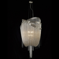 Avenue Lighting HF1610-NCK Wilshire Blvd. Polished Nickel Finish 60  Tall Drop Lighting