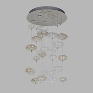 Avenue Lighting HF2001-SMK-CLR-LED Coldwater St. Contemporary Smoke And Clear Bubbles LED Multi Pendant Hanging Light