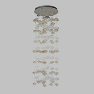 Avenue Lighting HF2002-SML-CLR-LED Coldwater St. Modern Smoke And Clear Bubbles LED Multi Hanging Light Fixture