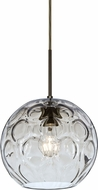 Besa 1JT-BOMYCL-BR Bombay Contemporary Bronze Clear Mini Lighting Pendant