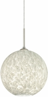 Besa 1JT-COCO1019-LED-SN Coco Contemporary Satin Nickel Carrera LED Mini Lighting Pendant