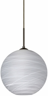 Besa 1JT-COCO1060-LED-BR Coco Modern Bronze Cocoon LED Mini Pendant Lamp