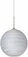 Besa 1JT-COCO1060-LED-SN Coco Contemporary Satin Nickel Cocoon LED Mini Hanging Lamp