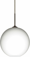 Besa 1JT-COCO1207-LED-BR Coco Modern Bronze Opal Matte LED Mini Hanging Light