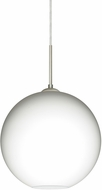Besa 1JT-COCO1207-LED-SN Coco Contemporary Satin Nickel Opal Matte LED Mini Pendant Light Fixture