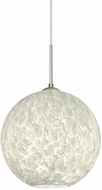 Besa 1JT-COCO1219-LED-SN Coco Modern Satin Nickel Carrera LED Mini Pendant Lighting Fixture