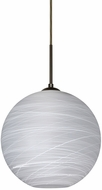 Besa 1JT-COCO1260-LED-BR Coco Contemporary Bronze Cocoon LED Mini Hanging Pendant Lighting