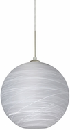 Besa 1JT-COCO1260-LED-SN Coco Modern Satin Nickel Cocoon LED Mini Hanging Pendant Light