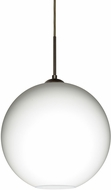 Besa 1JT-COCO1407-LED-BR Coco Contemporary Bronze Opal Matte LED Pendant Hanging Light